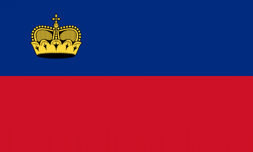 Флаг Лихтенштейна