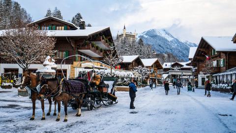 Гштаад - горнолыжный курорт